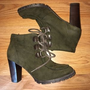Zara Suede Lace up Booties